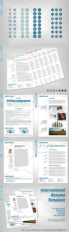 CV Resume , Cover letter Template Stationery Templates Pinterest