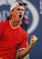 Australian-born professional tennis player - Lleyton Hewitt -