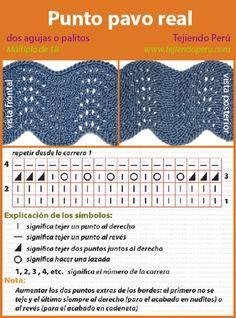 Descarga gratis libro de 3100 patrones tricot y ganchillo - Esquema punto estrella crochet ...