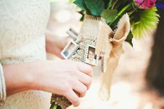 Wedding bouquet photo charms are beautiful way to remember those closest to you on your special day. | 28 Creative And Meaningful Ways To Add A Personal Touch To Your Wedding
