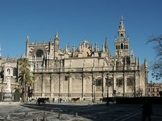 The cathedral of Seville –  It is one of the last Spanish Gothic cathedrals, and the Renaissance style is already evident there. Its impressive size makes it the third largest in the Christian world, after Saint Peter's in Vatican city and Saint Paul'