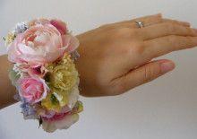 パステルカラーのナチュラル花冠&リストブーケ♡ |Ordermade Wedding Flower Item MY FLOWER ♪ まゆこのブログ