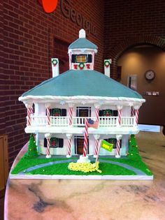 The Gingerbread model of the Augusta National Club House is on display at the Augusta Visitor Information Center, located on I-20 West.