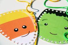 Freebie Friday – Halloween Lacing Cards – Busy Little Bugs Halloween Theme Preschool, Halloween Week, Halloween Sewing, Halloween Activities, Holiday Activities, Halloween Themes, Preschool Activities, Halloween Crafts, Senior Activities