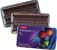 Soft core lead. Blending & layering: Derwent Colored Pencils, Drawing, Art, Colorsoft, 72-Pack (0701028): Office Products