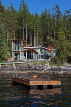 Contemporary west coast residence located in Pender Harbour, BC, Canada.