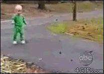 Nice save from gymnastics baby