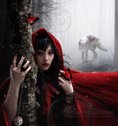 """Fairytale:  """"Little #Red,"""" by EnchantedWhispers, at deviantART."""
