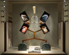 Designer Fotis Evans' conceptual store windows for Hermès, New York Retail Windows, Store Windows, Somerset, Store Design, All Design, Hermes Window, Greek Men, Greek Fashion, Evans