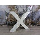 Tafelonderstel model X Kruispoot WIT Zwaar