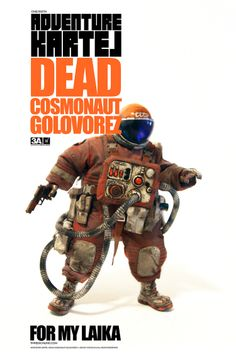 by Ashley Wood Dead Cosmonaut Golovorez - Pre-Order Helmet Light, Ashley Wood, Custom Action Figures, Branding, Words To Describe, Vinyl Toys, Designer Toys, Toy Soldiers, Toys Photography