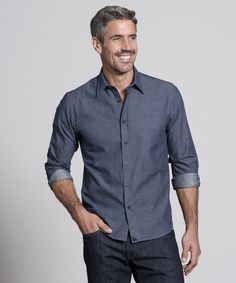 Untuckit men 39 s shirts designed to be worn untucked for Casual button down shirts untucked