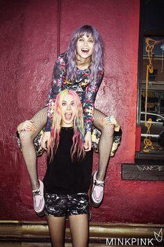 Chloe Norgaard Featured In New Mink Pink Look Book Buzznet Soft Grunge, Grunge Style, Neo Grunge, Pastel Grunge, Grunge Hair, Pastel Goth, Pastel Hair, Purple Hair, Grunge Outfits