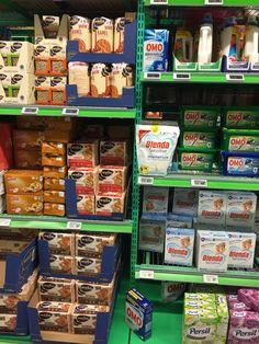 Er litt usikker på hva knekkebrød og vaskemiddel har til felles. Kiwi Kringsjå.
