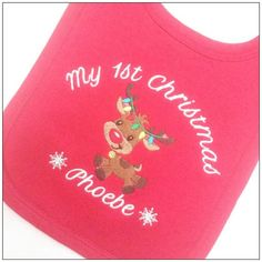 Babies First Christmas, 1st Christmas, New Baby Gifts, Girl Gifts, Personalized Toddler Backpack, Personalised Baby, 1st Birthdays, Baby Bibs, Christening