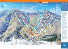 Windham Ski Resort - New York Windham Mountain, Ski Usa, Winter Child, Mountain Weddings, Catskill Mountains, Winter Mountain, Ski Resorts, Trail Maps, Snow Skiing