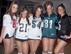 Professional cheerleaders and pantyhose