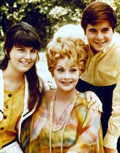 Lucille Ball with her children Lucie and Desi Arnaz Jr. for Here's Lucy