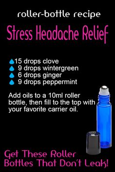Acupuncture Stress Stress Headache Relief Have you used and tested how much better stainless steel roller bottle ball are? If you are looking for roller bottles that dont leak, look here. We have many different colors and sizes. Each set comes wit - Helichrysum Essential Oil, Essential Oils For Headaches, Young Living Essential Oils, Essential Oil Blends, Roller Bottle Recipes, Migraine Relief, Stress Relief, Pain Relief, Tension Headache