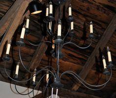 16-light iron chandelier