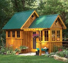 Amazing Shed Plans plans for this cute little garden shed.or maybe a little mini cabin? Now You Can Build ANY Shed In A Weekend Even If You've Zero Woodworking Experience! Start building amazing sheds the easier way with a collection of shed plans! Wood Shed Plans, Shed Building Plans, Diy Shed Plans, House Building, Barn Plans, Building Ideas, Pallet House Plans, Porch Plans, Building Quotes