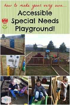 Liam's mom shows you step-by-step how she created the perfect accessible outdoor play space for her special needs son!