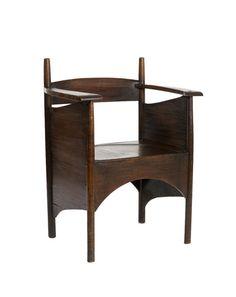 Charles Rennie Mackintosh, Argyle Tea Room Chair, 1897. Oak. Madefor Catherine Cranston's Argyle Street Tearooms in Glasgow, Scotland. Via Cooper Hewitt