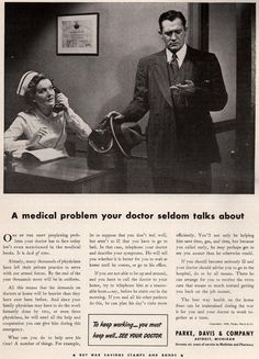 Parke, Davis & Company – A medical problem your doctor seldom talks about (1942)