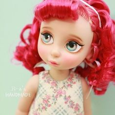Disney Animator Doll Rapunzel For handmade dolls that have interchangeable eyes and mouths, visit jessicadolls.com!
