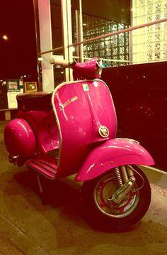 Hot Pink Vespa @Nanette *  Gourmet Worrier