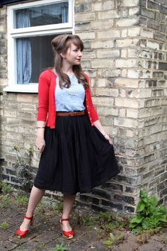 50s look with Swedish Hasbeens clogs