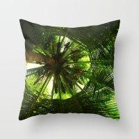 Green geometry Throw Pillow