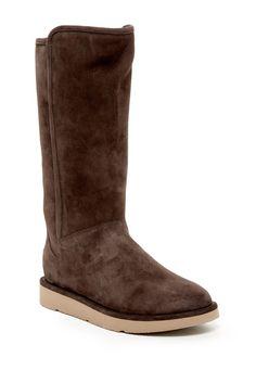 Image of UGG Australia Abree Genuine Lamb Fur Tall Zip Boot