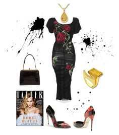 """Anastazio-red and black"" by anastazio-kotsopoulos ❤ liked on Polyvore featuring Anastazio and Dolce&Gabbana"