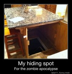 I don't like basements but I'd like a secret hiding place for if I got scared...