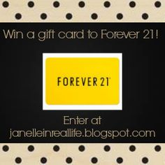 giveaway for a gift card to Forever 21! Make sure to enter!