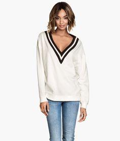 V-neck Sweatshirt | Product Detail | H&M