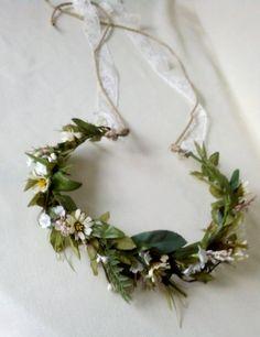 Ivy Vine Hair Wreath Renaissance Headdress rustic by AmoreBride