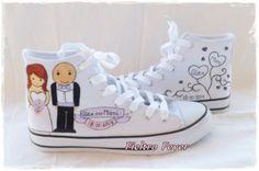 Chaussures sur mesure pour la mariée et le mariage. Le prix comprend les chaussures pour le marié et la mariée. 2 paires de pantoufles.    Peint à