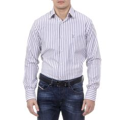 Color: Striped Size: 40 IT – 15¾ US Made of: 100% COTTON By Versace 19.69 Abbigliamento Sportivo Srl Milano Italia – Details: 377 VAR. 515 – Color: Striped – Composition: 100% COTTON – Made: ITALY – Botton Closure – Front Logo – Long Sleeve Persol, 3 In One, Ray Ban Sunglasses, Versace, Ray Bans, Mens Fashion, Shirt Dress, Classic, Mens Tops