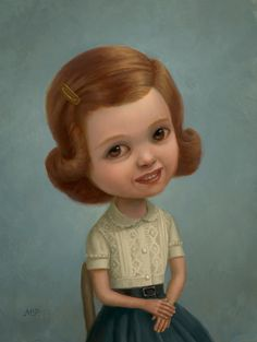 "Marion Peck- ""Nice Girl"" Oil on panel x 2008 Marion Peck, Mark Ryden, Lowbrow Art, Whimsical Art, Surreal Art, Contemporary Artists, New Art, Cool Girl, Manila"