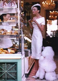 """""""Patisserie"""" Once, just once,  I would like to look this calm, elegant and chic while eating pastry!!! ;)"""