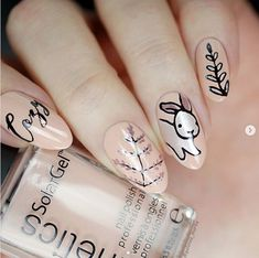 Easter nail ideas for you to try at home or take to your manicurist to get the cutes Easter nail art design. Easter nail art is a festive way to celebrate. Easter Nail Designs, Easter Nail Art, Holiday Nail Designs, Holiday Nail Art, Nail Designs Spring, Simple Nail Designs, Nail Art Designs, Nails Design, Bunny Nails
