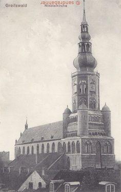AK Greifswald. Nikolaikirche, 1915 | eBay