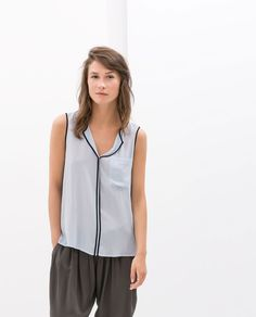 ZARA - WOMAN - SLEEVELESS TOP WITH EDGING