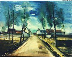 VLAMINCK, Maurice de | Galerie Melki Henri Matisse, Raoul Dufy, Andre Derain, Paris, Maurice De Vlaminck, Art Du Monde, Spoke Art, Artist And Craftsman, Impressionist Landscape