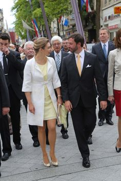 Prince Guillaume and Princess Stephanie of Luxembourg visit Esch-sur-Alzette on 22 June 2013 in Luxembourg