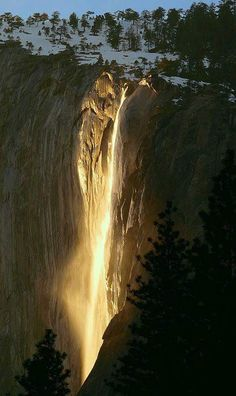 Biologia-Vida: A Cachoeira de Fogo / Yosemite Firefall