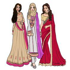 Happy Diwali! Tag your indian friends! Mine, i got Jamuna ( fabulous & bubbly girl in da office ) * office sunyi sebab Jamuna cuti celebrates Diwali . #namirahsketches #fashionillustration #deepavali