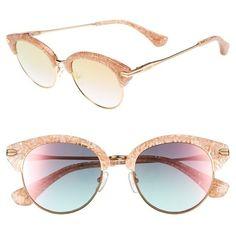 Women's Sonix Bellevue 50Mm Mirrored Sunglasses ($98) ❤ liked on Polyvore featuring accessories, eyewear, sunglasses, mirrored sunglasses, mirror sunglasses, retro mirrored sunglasses, mirrored glasses and retro eyewear